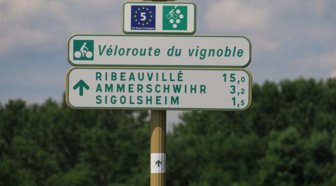 Rhineruten dag 7, 1. august: Véloroute du vignoble