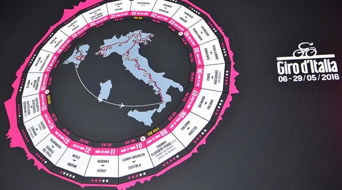 I vini del Giro d'Italia 2016: 13. etappe. Palmanova — Civiali del Fruili
