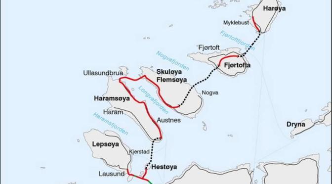 Veigalskap: Nordøyvegen — drøyt 1,5 mill per innbygger