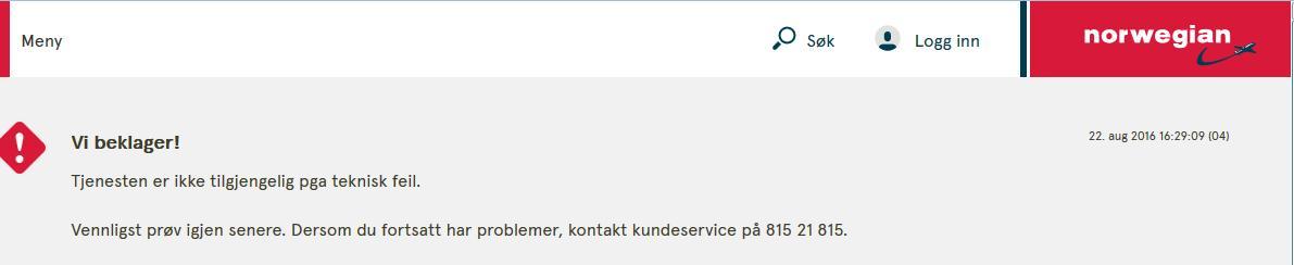Norwegian teknisk feil