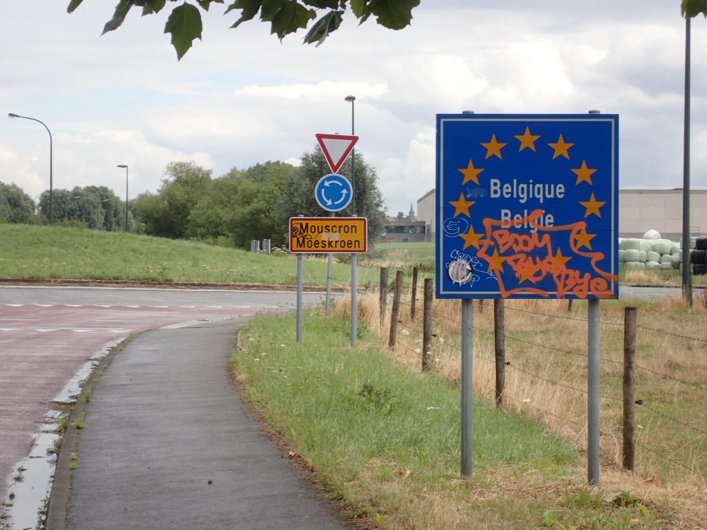Grenseskilt Belgia