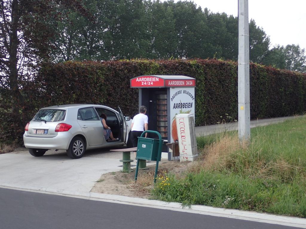 Jordbærautomat, kunde
