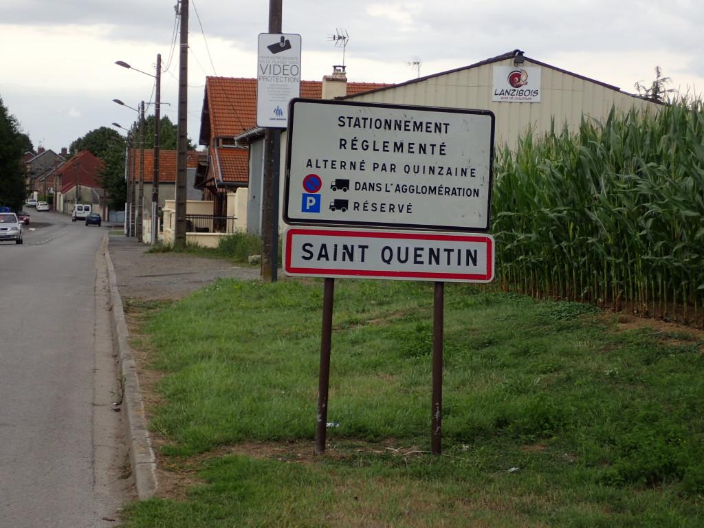 Saint Quentin skilt