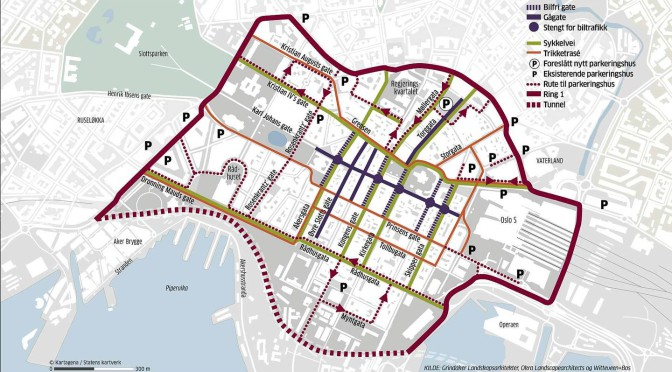 """Grindakers forslag til """"bilfritt"""" sentrum"""