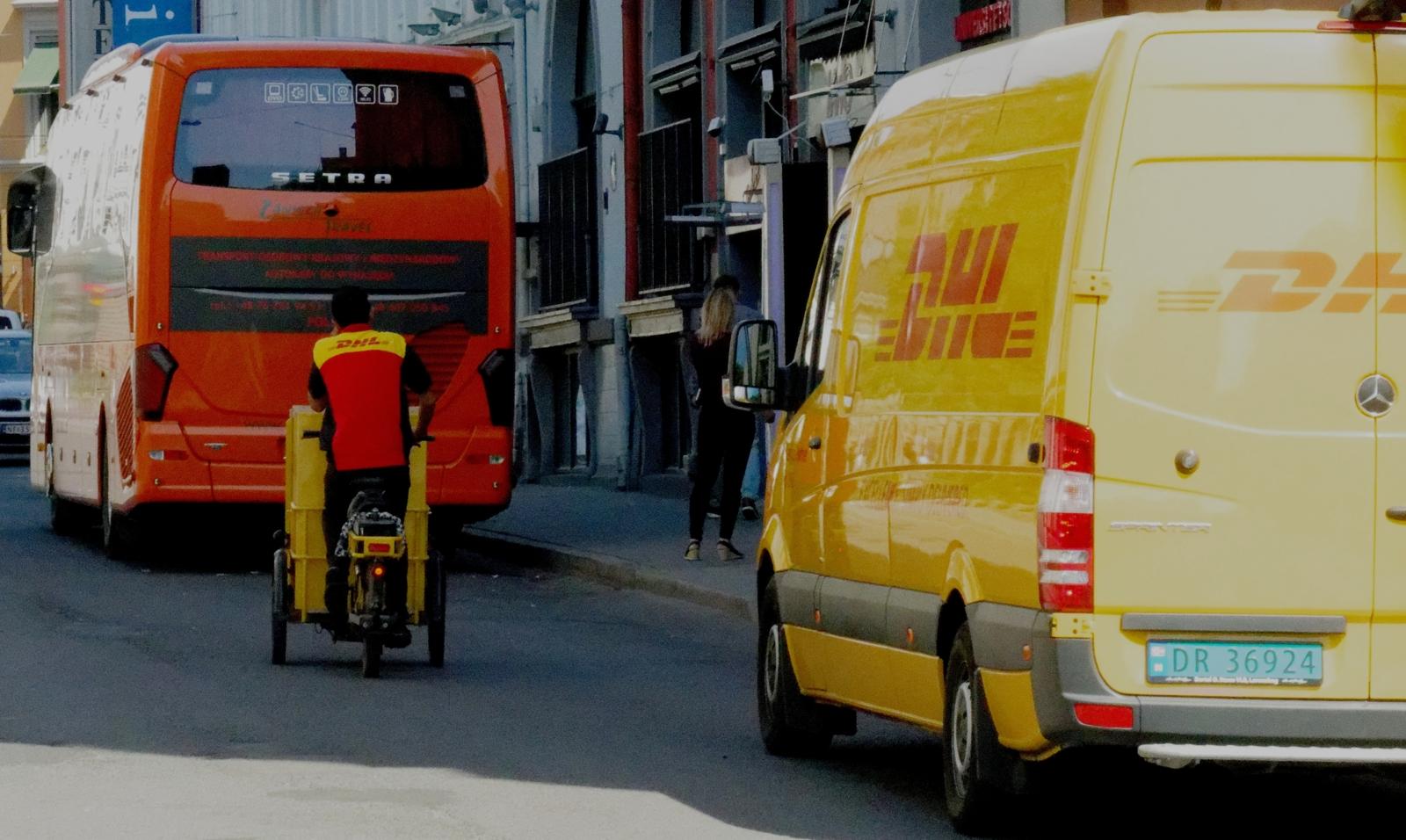 DHL varesykkel Oslo