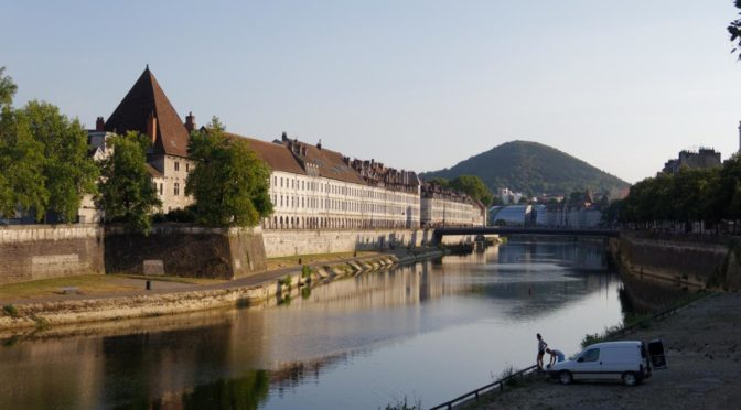 Bikerail 2018 del 2, Monpellier — Kiel: Dag 1. Montpellier — Besançon, geocaching med lokaltog