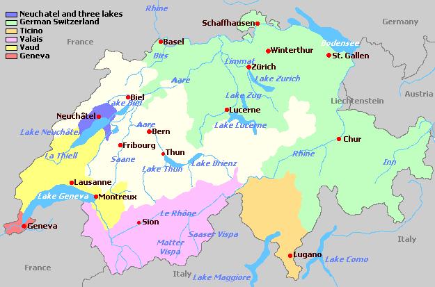 Sveits_vinregioner