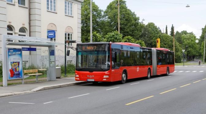 En farlig plassert bussholdeplass