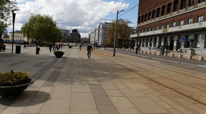 Sykkelvei over Rådhusplassen, @gurimelby @HansSnuble