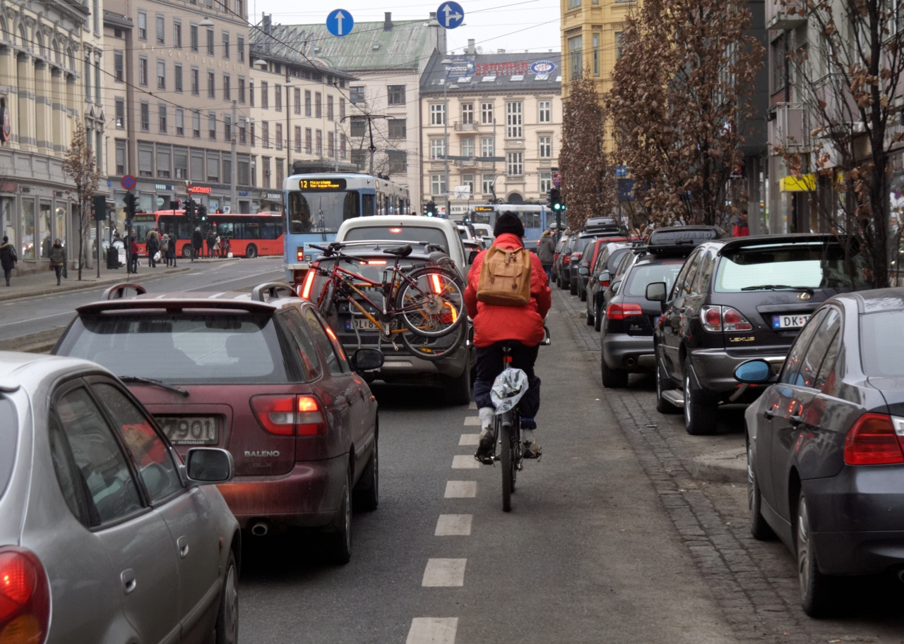Majorstuen — et sykkelmessig katastrofeområde