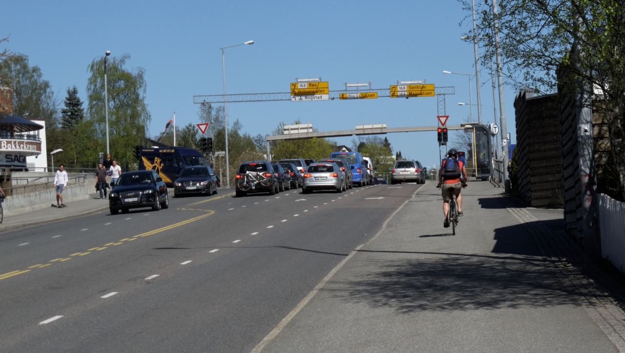 Sykkelruter i Oslo: Store ringvei 1 — fra Lysaker til Smestad