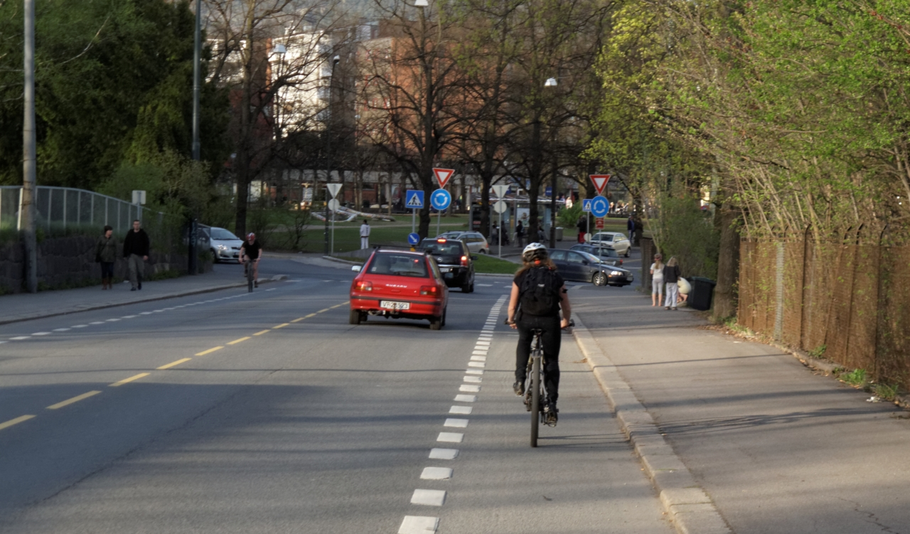 Sykkelruter i Oslo: Frogner — Sinsen