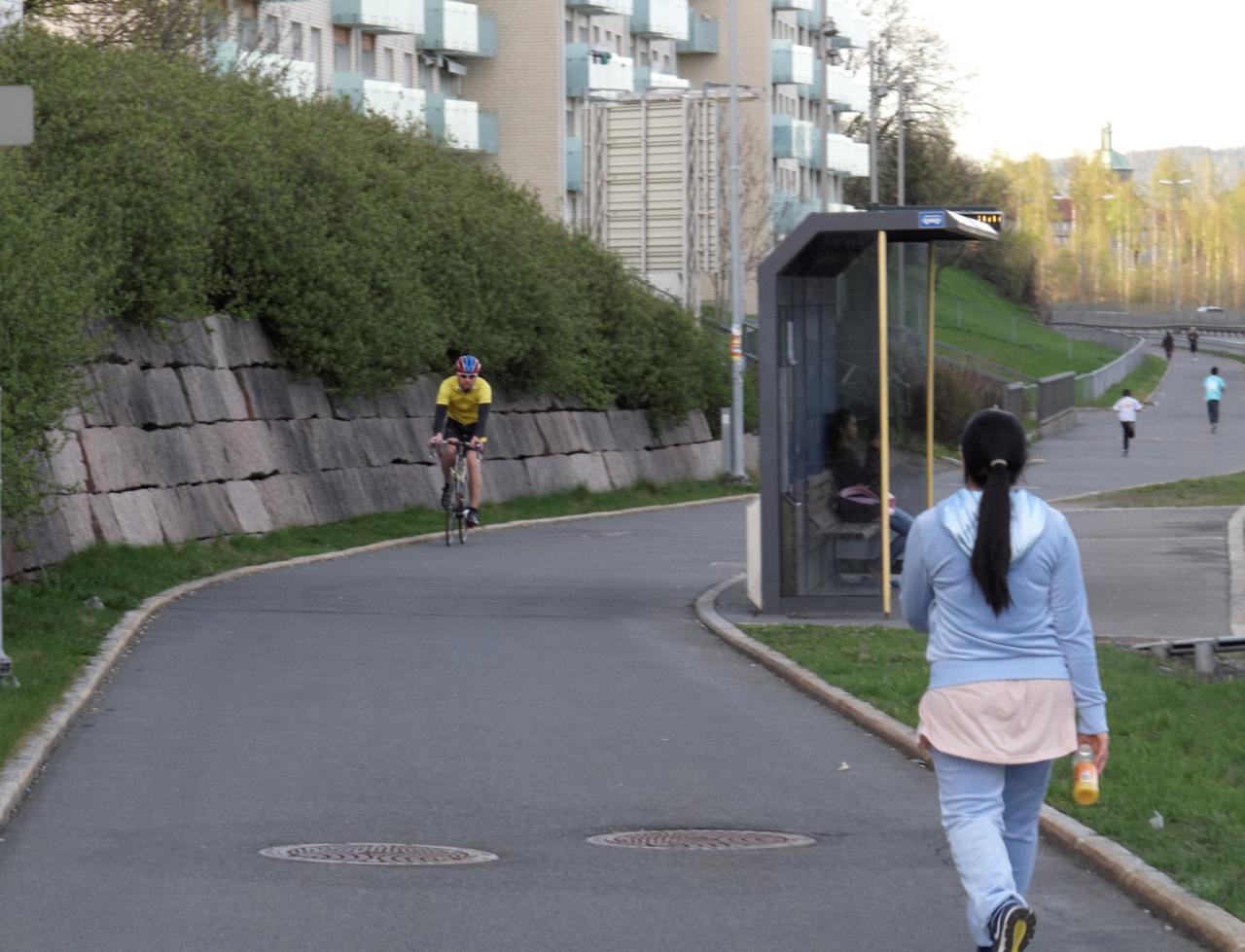 Sykkelstrekninger i Oslo: Trondheimsveien fra bygrensen til Sinsen