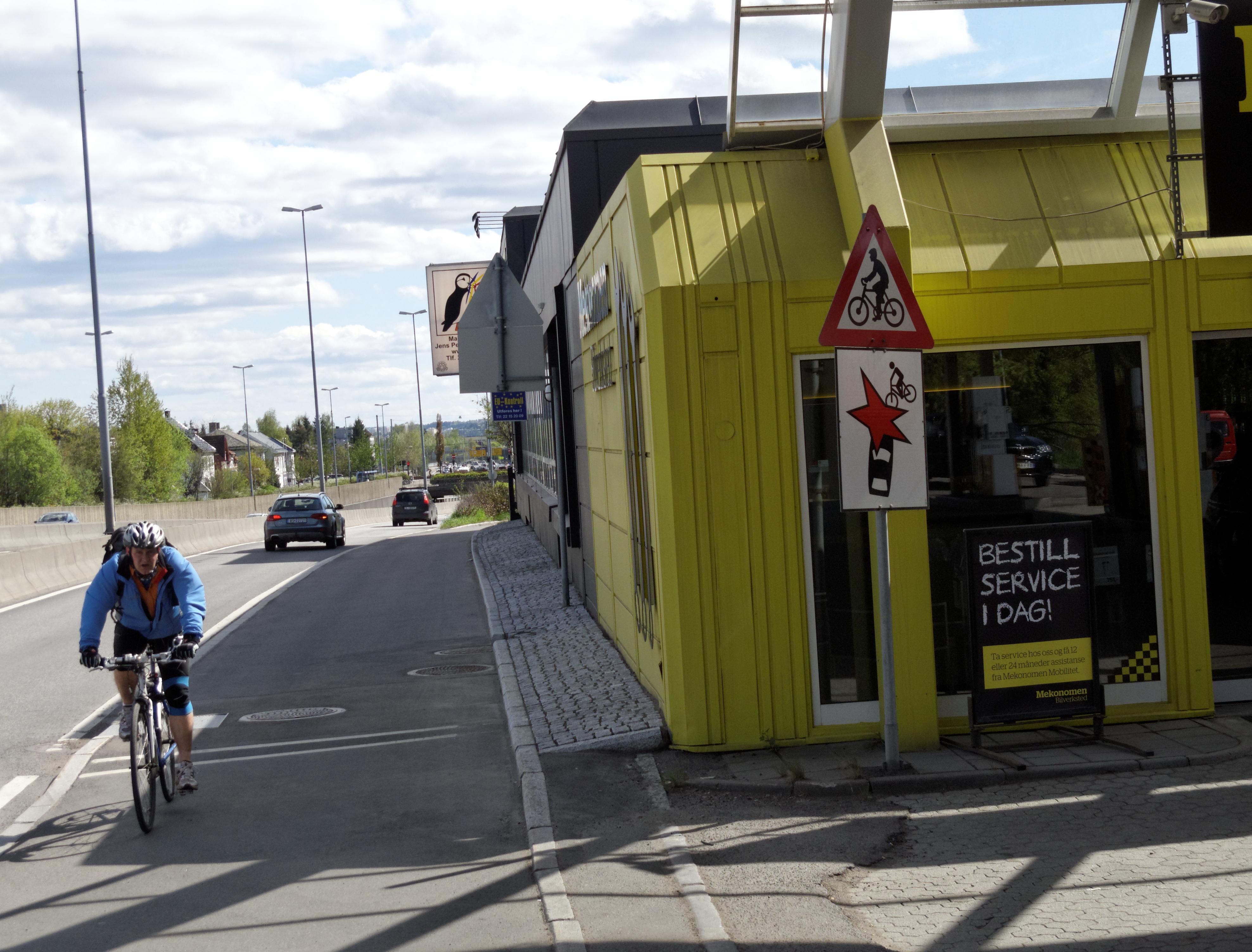 En farlig sykkelfelle på Storo
