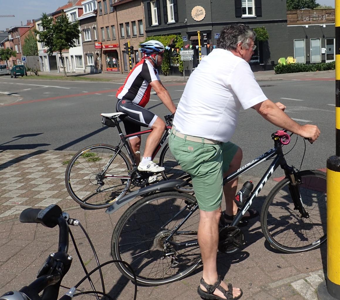 Syklister på tur, Belgia