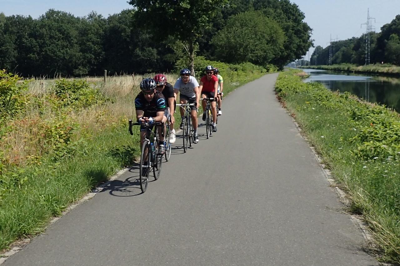 Syklister, treningstur