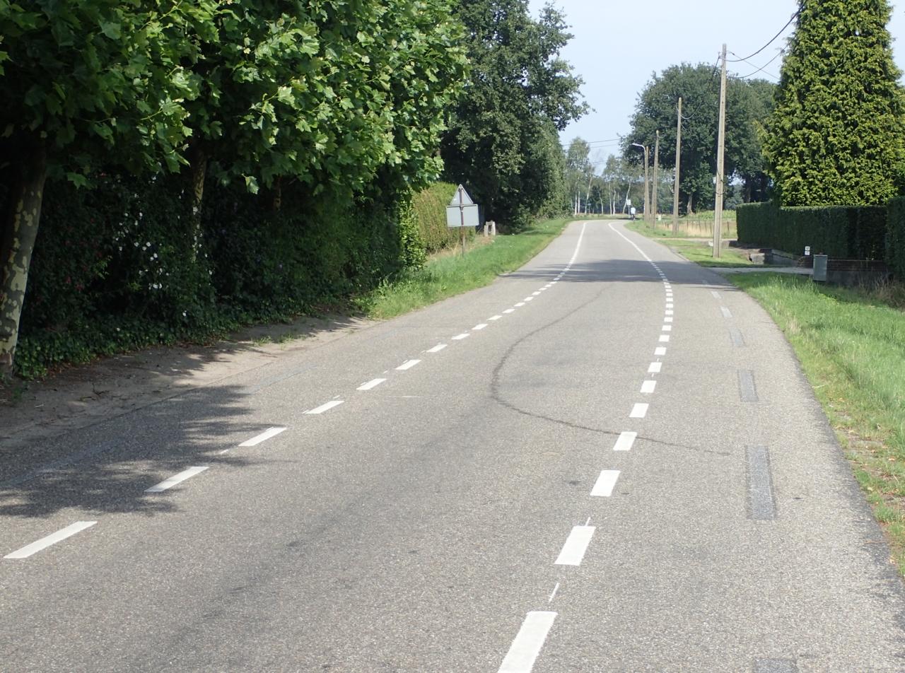 Vei med sykkelfelt, Nederland