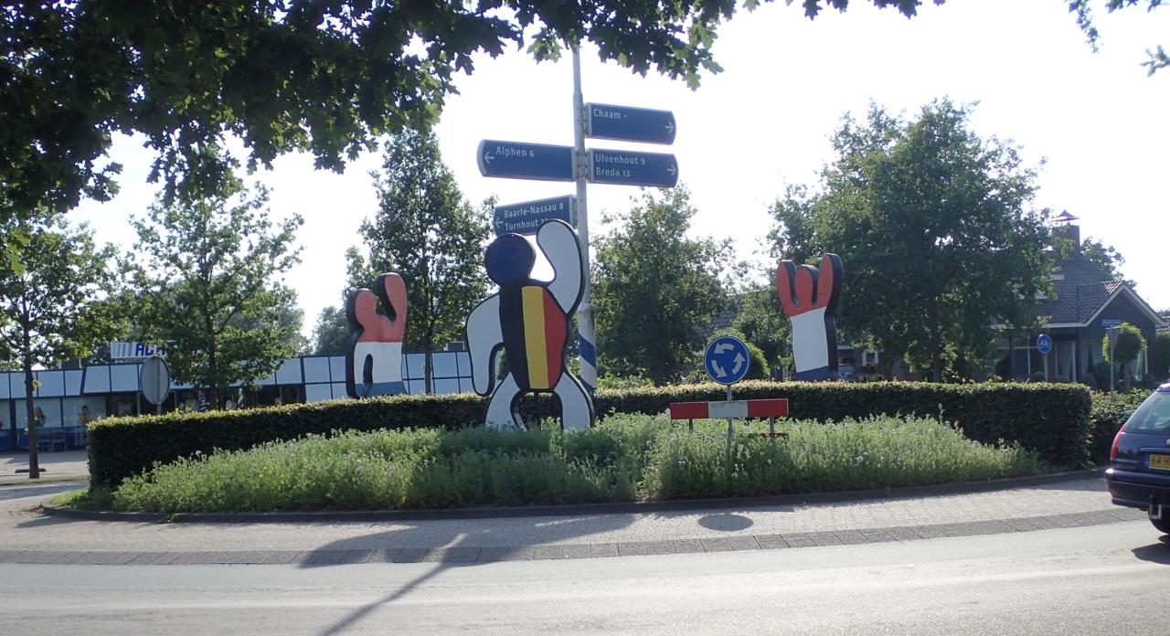 Rundkjøring, Nederland Belgia