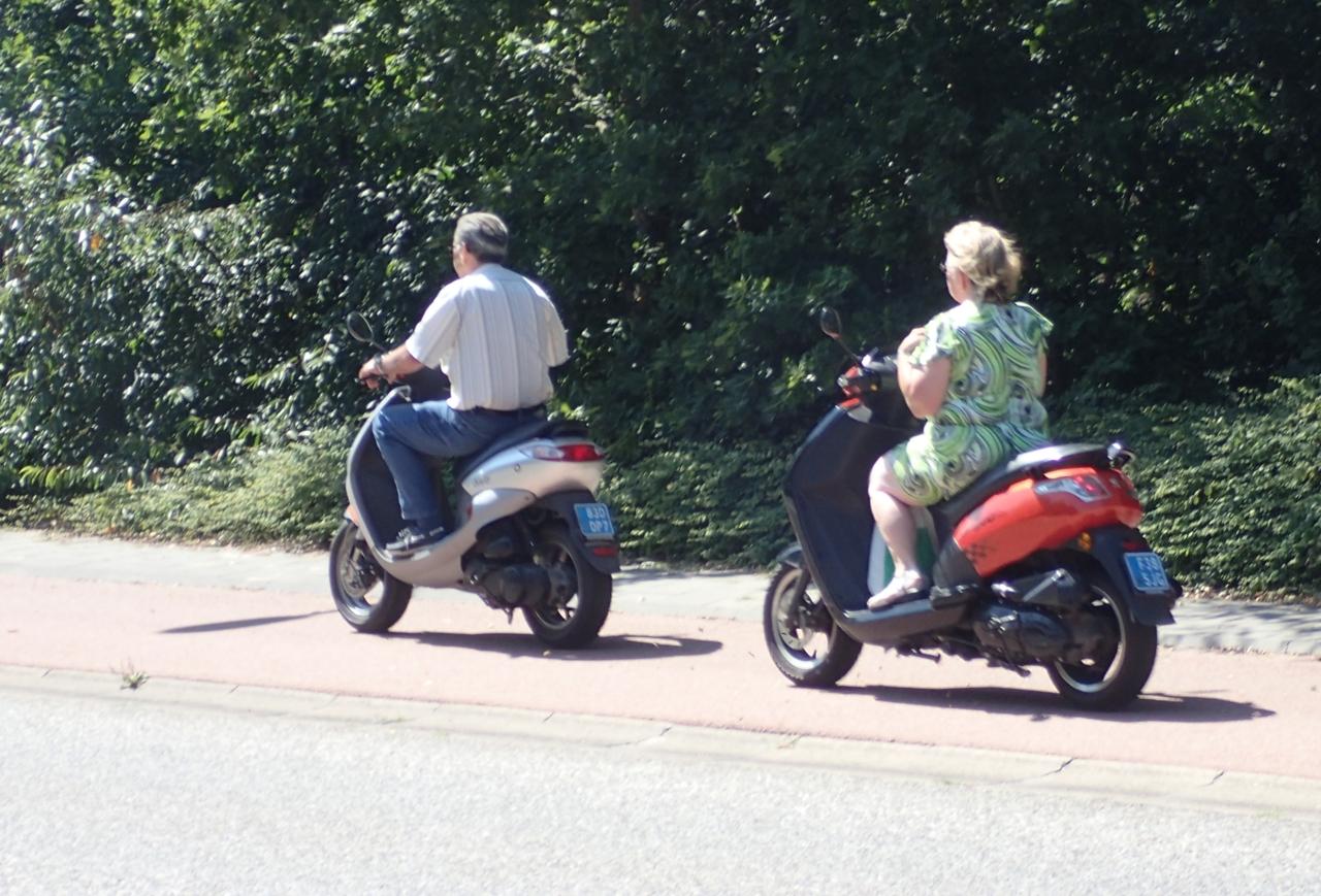 Mopeder i sykkelfelt, Nederland