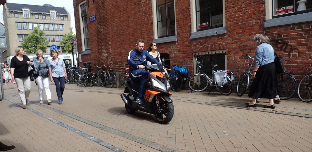 Moped, sykkelgate, Groningen