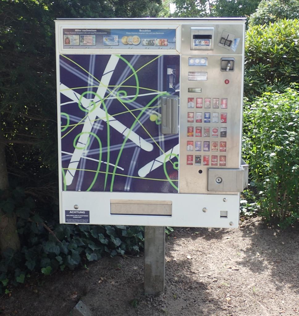 Sigarettautomat, Tyskland