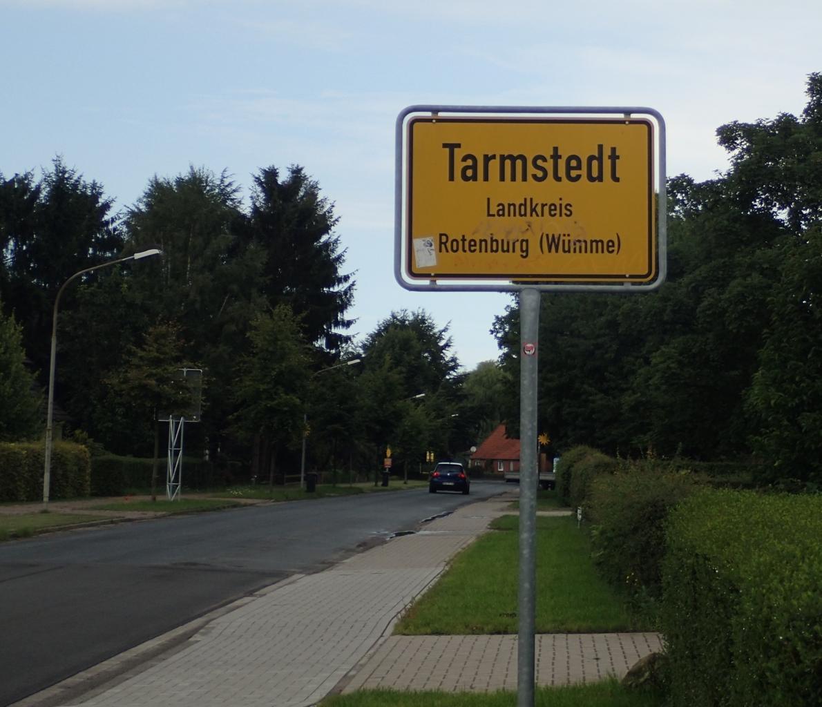 Tarmstedt, skilt