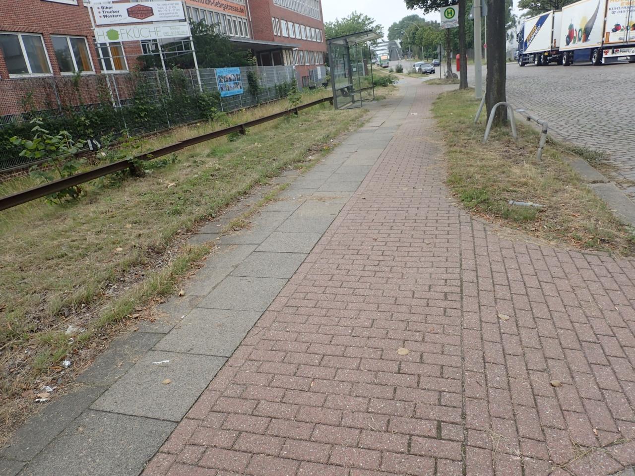 Dårlig sykkelvei, Hamburg