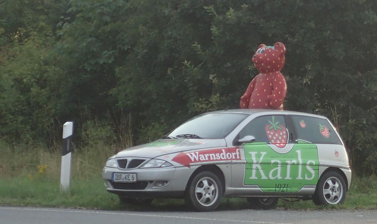 Bamse jordbær reklame